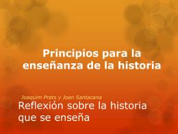 Reflexión sobre la historia que se enseña