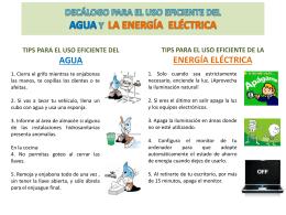 agua y energía eléctrica