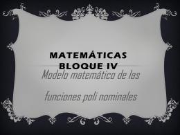 funciones polinominales