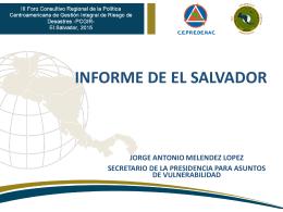 Presentación El Salvador