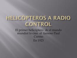 FRANCISCO JAVIER – Helicoperos a radio control