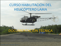 CURSO HABILITACION DEL HELICOPTERO LAMA