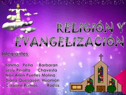 RELIGIÓN Y EVANGELIZACIÓN