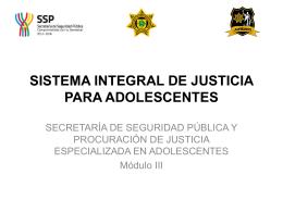 sistema integral de justicia para adolescentes