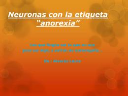 neuronas con la etiqueta anorexia