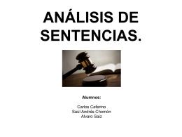 ANÁLISIS DE SENTENCIAS.