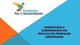 presentación candidatos gobernacion 2015
