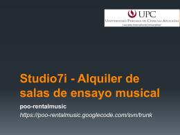 Studio7i - Alquiler de salas de ensayo musical