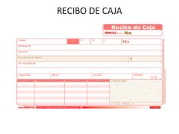 RECIBO DE CAJA