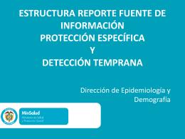 Dirección de Epidemiología y Demografía