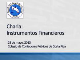 Instrumentos Financieros - Colegio de Contadores Públicos de