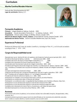 Currículum - Congreso del Estado de Coahuila