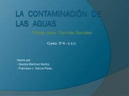 La contaminación DE LAS AGUAS - ramonycajal