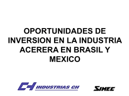 OPORTUNIDADES DE INVERSION EN LA INDUSTRIA