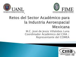 Retos del Sector Académico para la Industria Aeroespacial Mexicana