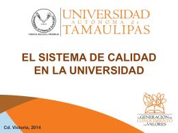 Presentación SIGC - Universidad Autónoma de Tamaulipas