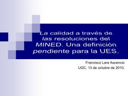 La calidad a través de las resoluciones del MINED. Una definición
