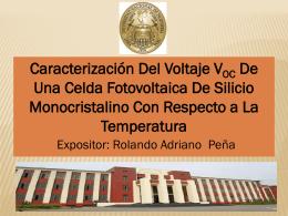 Caracterización Del V OC De Una Celda Fotovoltaica