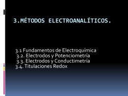3.1 Fundamentos de Electroquímica