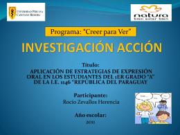 expresión oral – 1° grado - área de gestión pedagógica ugel 01
