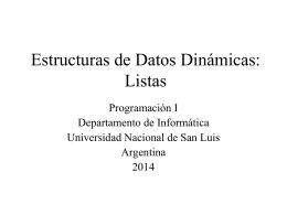 Filminas - Programación I - Universidad Nacional de San Luis