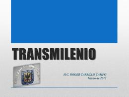 TRANSMILENIO - Concejo de Bogotá