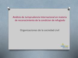 Análisis de Jurisprudencia Internacional en materia de