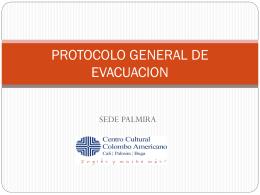 PROTOCOLO GENERAL DE EVACUACION