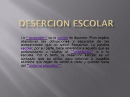 desercion escolar ppt para wiki