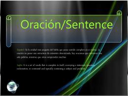 Oraciones y frases-presentación de análisis