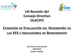 Comisión de Evaluación del Desempeño e Indicadores de