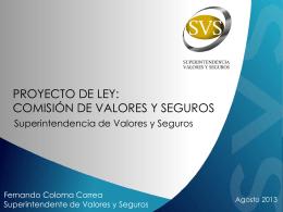 Corresponde al Consejo - Superintendencia de Valores y Seguros