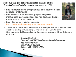 Premio Emma Castelnuovo del ICMI
