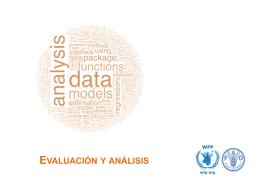 Evaluación y análisis - Food Security Clusters