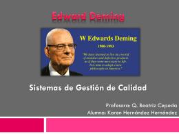 Deming - Sistemasdegestiondecalidad
