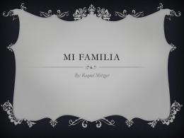 Mi Familia - KneppSpanish1