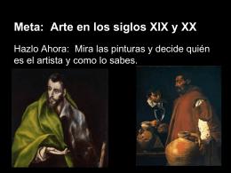 Meta: Arte en los siglos XIX y XX