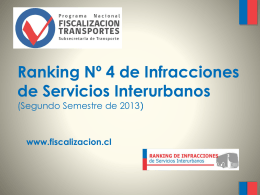 PPT 4to ranking infracciones 2013