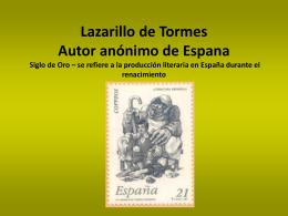 Lazarillo de Tormes Autor anónimo de Espana