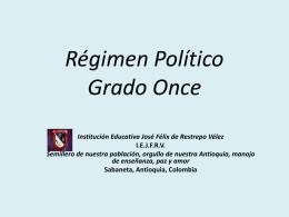 Régimen Político