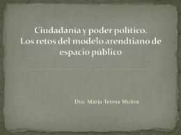 Ciudadanía y poder político. Los retos del modelo