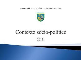 Contexto socio-político