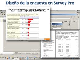 Investigación cuantitativa (encuestas)