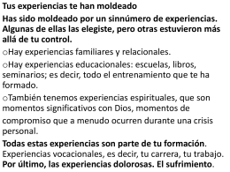 experiencias - Un Encuentro con Jesus