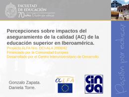 Presentación Gonzalo Zapata y Daniela Torre