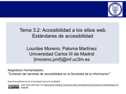 Tema 3.2: Accesibilidad a los sitios web. Estándares de