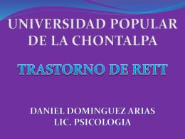 ESPOSICION TRASTORNO DE RETT