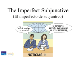 Imperfecto Subjuntivo Chp 4 Sonia