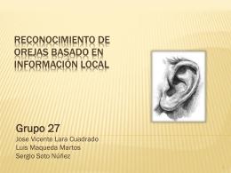 Reconocimiento de orejas basado en información local