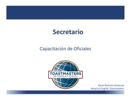 Responsabilidad del Secretario